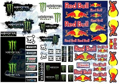 Monster Red Bull Racing Decals for 1:64 scale Hot Wheels
