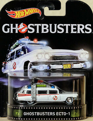 Ghostbusters Ecto-1 in 1:64 Hot Wheels DJF42 Retro Entertainment