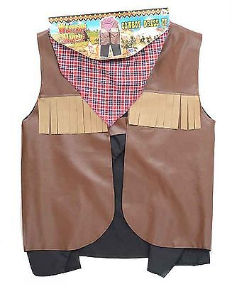 Kids Boys Cowboy Fancy Dress Dressing Up Outfit Party Outfit Age 3-5 years NEW