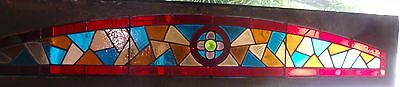 Long Victorian stained glass transom
