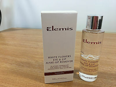 Elemis white flowers eye and lip make-up remover 125ml boxed new