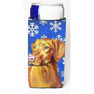Vizsla Winter Snowflakes Holiday Michelob Ultra bottle sleeves For Slim Cans ...