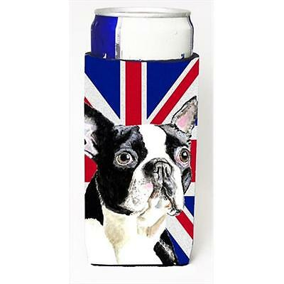 Boston Terrier With English Union Jack British Flag Michelob Ultra bottle sle...