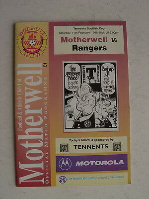 Motherwell v Rangers 1997/98 Scottish Cup