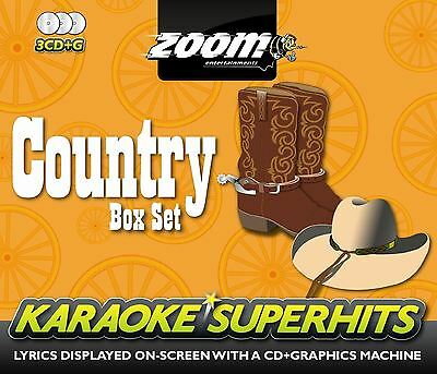 Zoom Karaoke Country Superhits Country Box Set 3 CD+G (New)