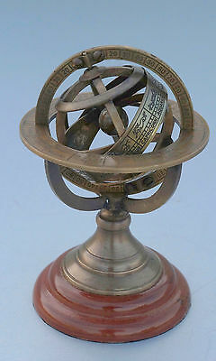 Vintage Navy Nautical Sphere Astrolabe 5'' Armillary Globe Collectible Gift