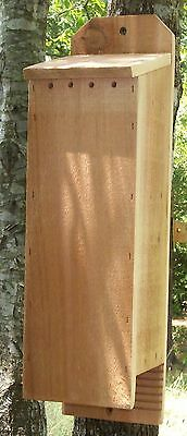 3 Chamber Handcrafted Bat House Box Mosquito Control +  Free Lure