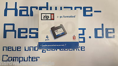 Iomega Zip Discs 250 MB Diskette PC formatted 4-pack