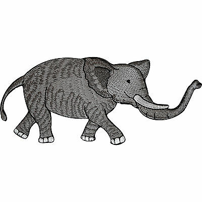 Embroidered Elephant Iron On Badge Sew On Patch Animal Embroidery Cloth Applique