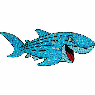 Embroidered Shark Iron On Badge Sew On Patch Embroidery Fish Clothing Applique