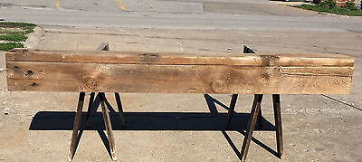 "Vtg 68""  Reclaimed LUMBER BARN WOOD Fireplace Mantle Shelf Ledge RUSTIC 1886"