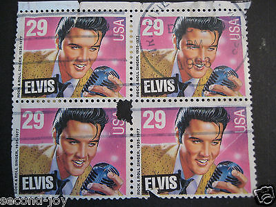 Elvis USA Postage 29c Plate Block Lot of 4 Stamps