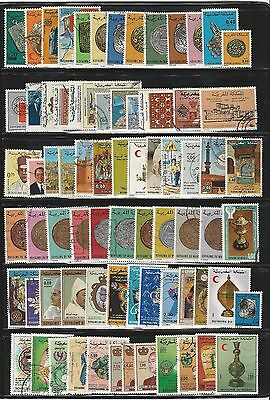 Morocco: Lot of 150 modern stamps, differents thematics, used. MC28