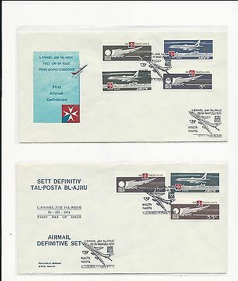 Malta ( Air Mail Definitive  ) 1974  Set of 7 Stamps on First Day cover