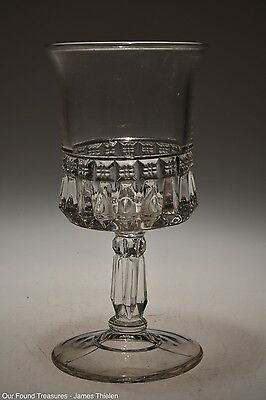 c. 1888 CHANDELIER AKA CROWN JEWEL by O'Hara Glass CRYSTAL Goblet