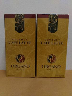 2 Boxes Organo Gold Cafe Latte With Ganoderma Lucidum - 10/2018 !!!