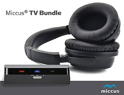 Wireless TV Headphones and Bluetooth Transmitter for Television listen watch to