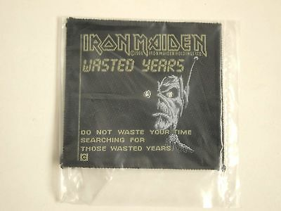 Iron Maiden Wasted Years Sew On Patch 1986
