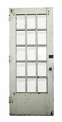 15 Beveled Glass Panel White Wood Door