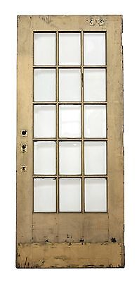15 Beveled Glass Panel Tan Door
