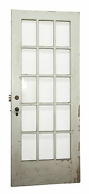 Wooden Door With 15 Wavy Glass Panels