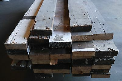 Antique Vintage Reclaimed Salvaged Wood Timbers per Foot Pine Fir 1930's 80+pcs