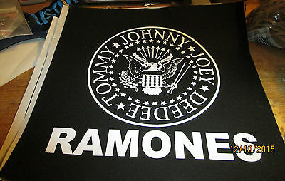 Ramones Collectable Rare Vintage Back Patch   Backpatch Punk
