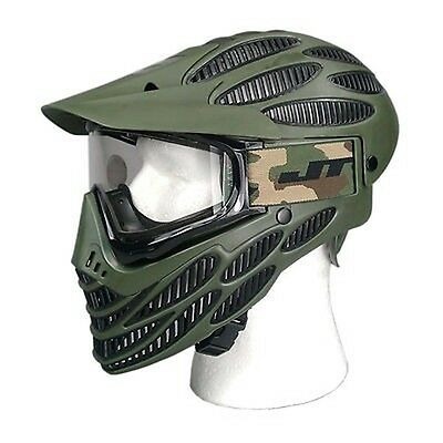 JT Flex 8 Headshield Olive Paintball Mask Full Coverage Thermal New