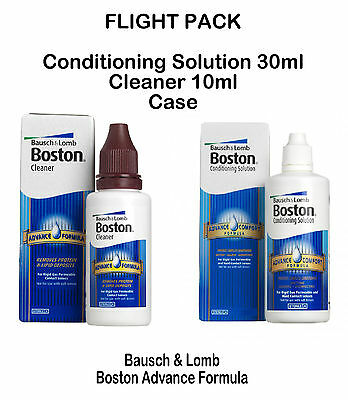 Boston Advance Flight Travel Pack (Cleaner & Conditioning Solution) Bausch Lomb