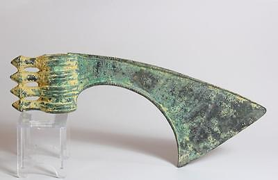 Luristan engraved spike-butted bronze axe head. c 1000 BC.  Iron-age Pre Greek.