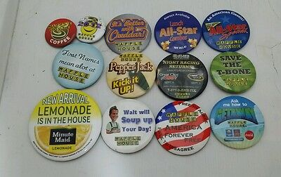 Lot of 12 Waffle House Pin Buttons