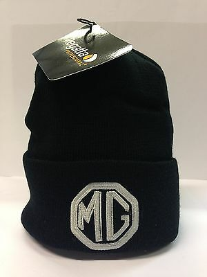 "New Genuine Official MG Motor UK Octagon Logo ""Thinsulate"" Beanie hat - Black"