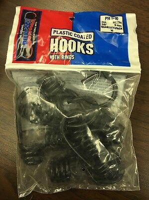 """Plastic Coated Hooks With Rings. 3/8"""". 10 Pack. Bungee, Rope, Tarp, Outdoor"""