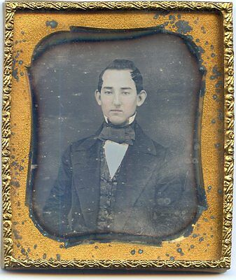 Sealed Smooth Daguerreotype Stylish Extremely Handsome Young Man