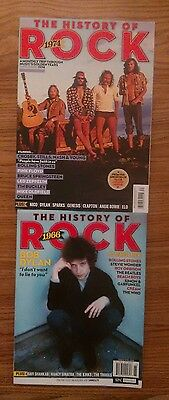 "lot of ""The History Of Rock"" 1966 & 1974 U.K. magazines Dylan Beatles & Stones"