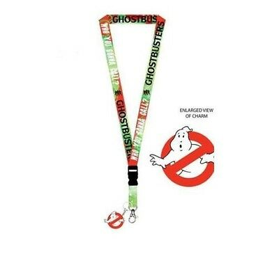 Ghostbusters Who You Gonna Call Lanyard Keychain With Charm