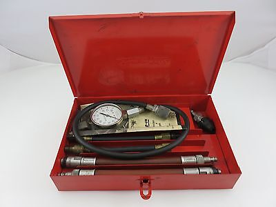 Snap-On Compression Gauge Tester Set Kit 0-250psi w/Adapters Made In USA