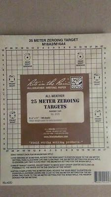 """#9125 All-Weather 25 Meter Zeroing Target, 8.5"""" x 11"""" Rite in the Rain"""