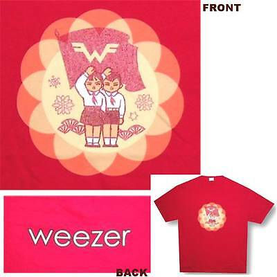 "Weezer Flag Twins ""propaganda"" Red T-Shirt Adult X-Large Xl New Official"