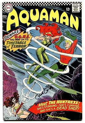 AQUAMAN #26 comic book 1966-Cover Signed by NICK CARDY DC