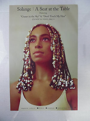 """Solange Knowles - Seat At The Table * 11"""" x 17"""" Official Promo Poster * Beyonce"""