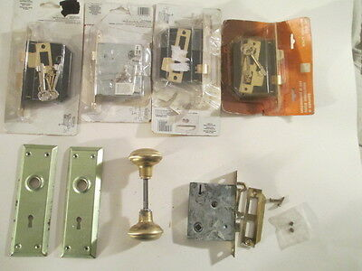 5 - Vintage Style Skeleton Key Mortise Locks.