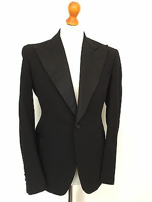 Mens Bespoke Vintage 1930's Dinner Jacket Suit DJ Size 38 Long