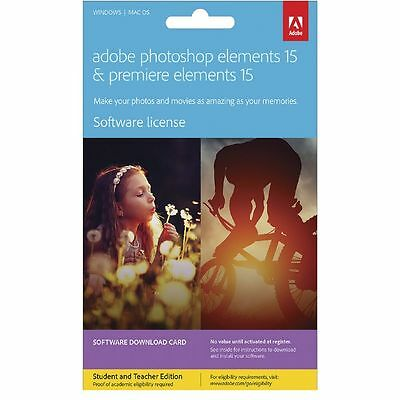 Adobe Photoshop and Premiere Elements 15 Education Card