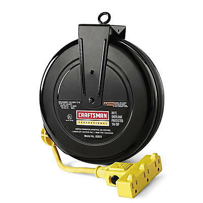 Craftsman Professional Retractable Cord Reel 30-Ft Extension Cord 83929