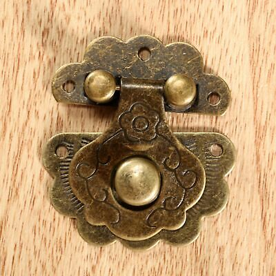 Antique Door Closet Latch Clasp Jewelry Wood Box Cabinet Drawer Lock Hasp