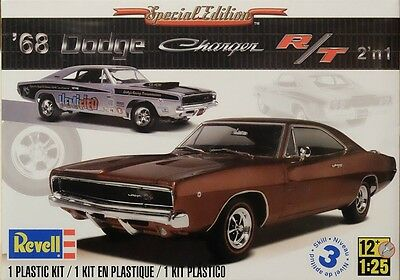 Dodge Charger R/T 1968 2 in 1 Bausatz 1:25 Model Kit Revell 4202 RT NEU
