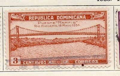 Dominican Republic 1934 Early Issue Fine Used 3c. 104019