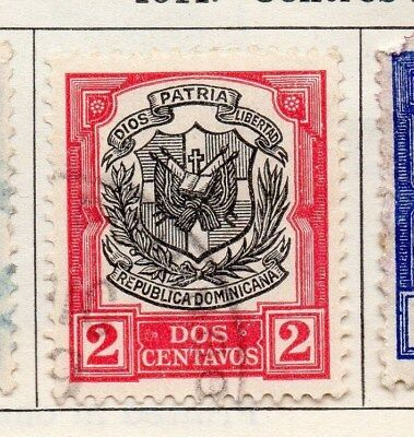 Dominican Republic 1911 Early Issue Fine Used 2c. 104091