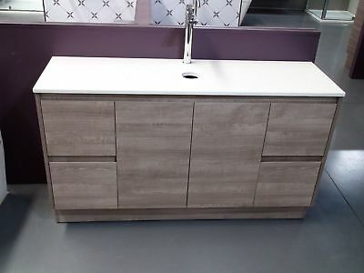 Melbourne 1500Mm Wooden Bathroom Vanity With Single Stone Top (Bv16Ot) No Basin